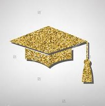 gold graduation hat
